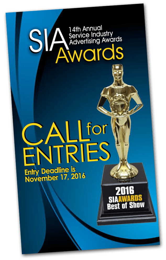 Service Industry Advertising Awards 2016 - 14th Call For Entries